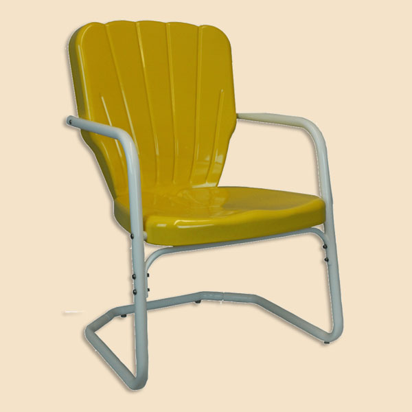 $102.00 - Retro Lawn Chairs - 1950s Metal Chairs